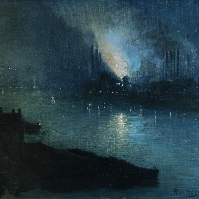 Pittsburgh Steel Mills at Night