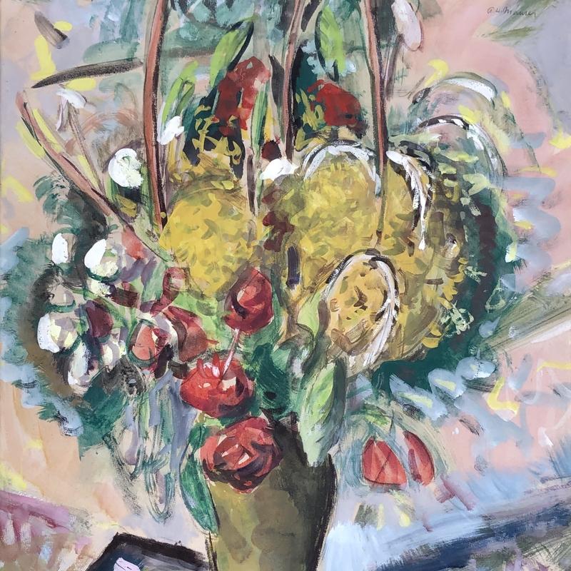 Modernist Still Life of Flowers