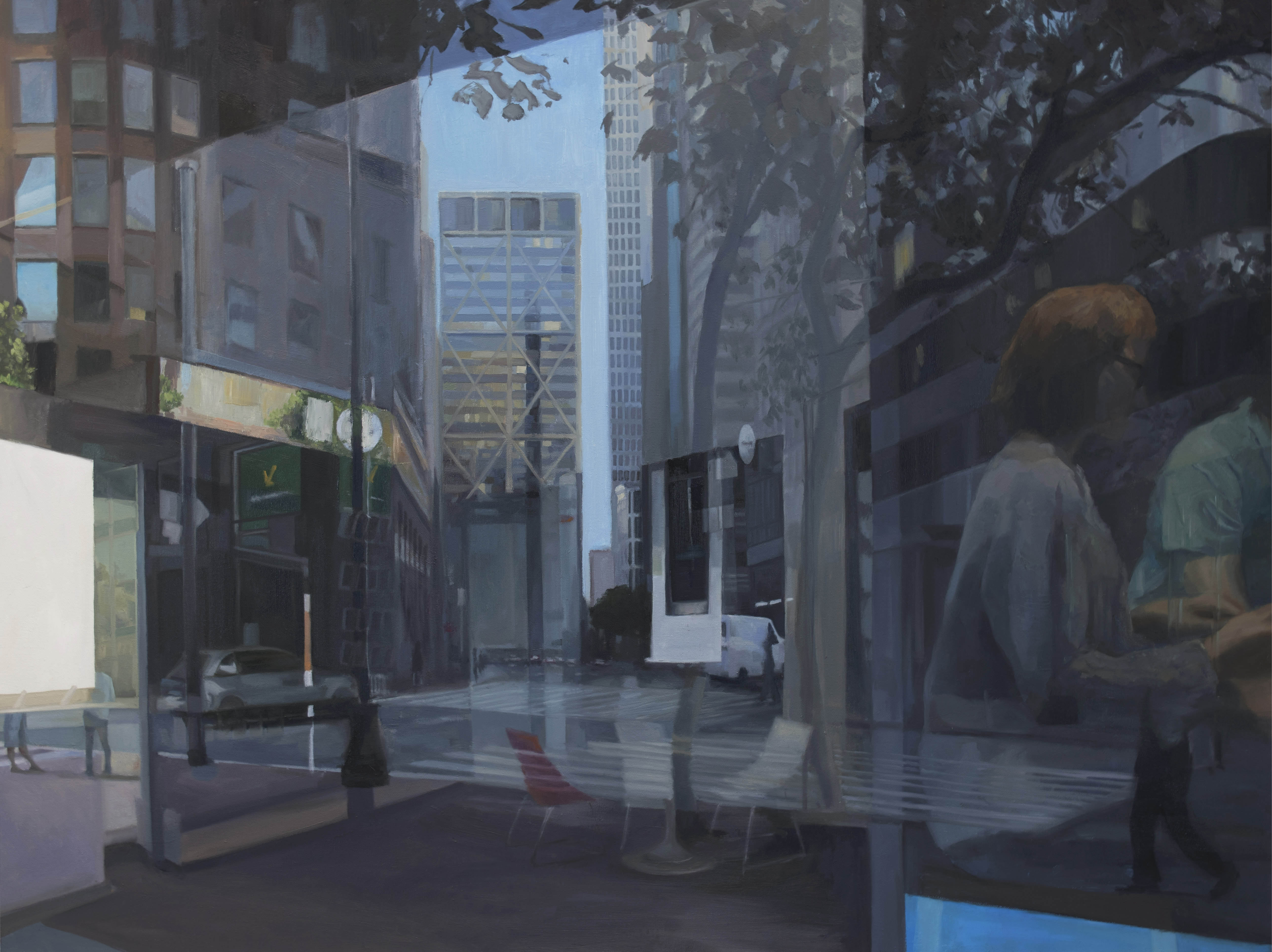 Reflections of City Buildings